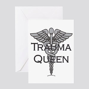 Trauma Queen, ER Nurse Greeting Card
