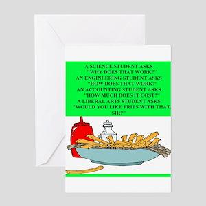 funny geek & professor Greeting Card
