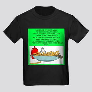 funny geek & professor Kids Dark T-Shirt