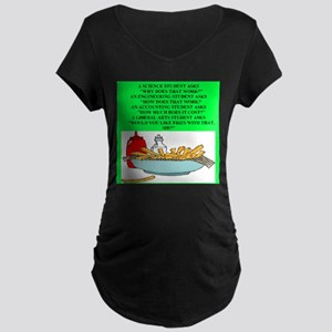 funny geek & professor Maternity Dark T-Shirt