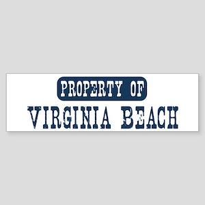 Property of Virginia Beach Bumper Sticker