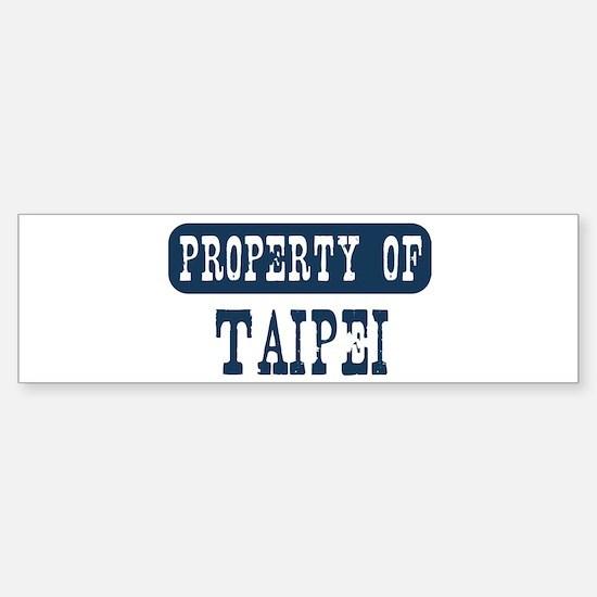 Property of Taipei Bumper Bumper Bumper Sticker