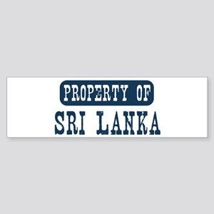 Property of Sri Lanka Bumper Sticker