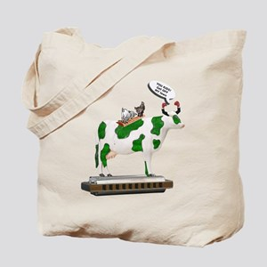 Grass Cow and Goats Tote Bag