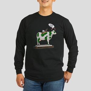 Grass Cow and Goats Long Sleeve Dark T-Shirt