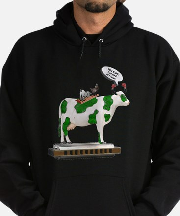 Grass Cow and Goats Hoodie (dark)