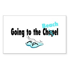 Going To The Chapel (Beach) Rectangle Decal