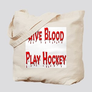 Give Blood Play Hockey Tote Bag