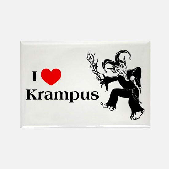I *heart* Krampus Rectangle Magnet