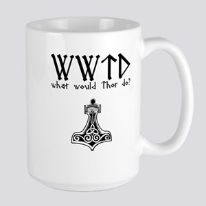 WWTD what would Thor Do? white T-shirt Mugs