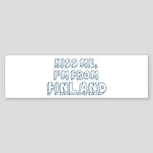 Kiss me: Finland Bumper Sticker