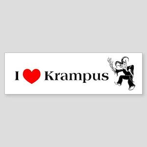 I *heart* Krampus Bumper Sticker
