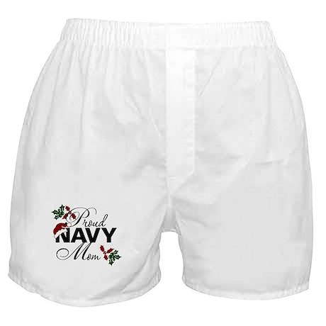 Proud Navy Mom Holly Boxer Shorts