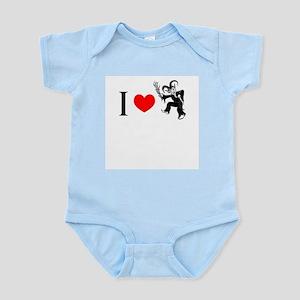 I *heart* Krampus Infant Bodysuit