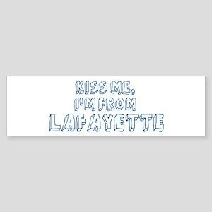 Kiss me: Lafayette Bumper Sticker