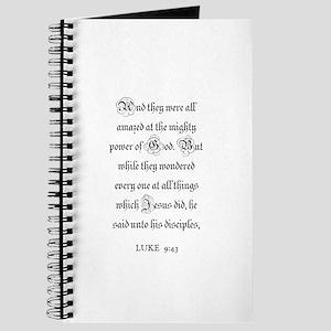 LUKE 9:43 Journal