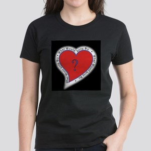 Graphic on dark appera; Women's Dark T-Shirt