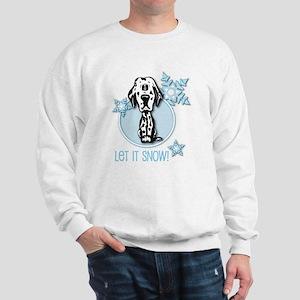 Let it Snow Dalmatian Sweatshirt