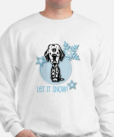 Let it Snow Dalmatian Sweatshirt