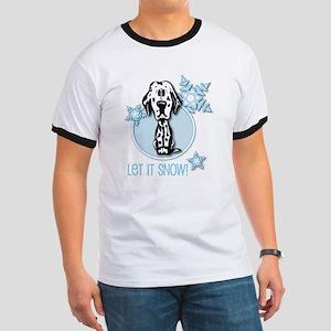 Let it Snow Dalmatian Ringer T