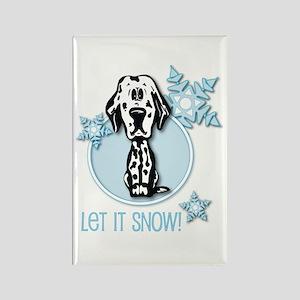 Let it Snow Dalmatian Rectangle Magnet