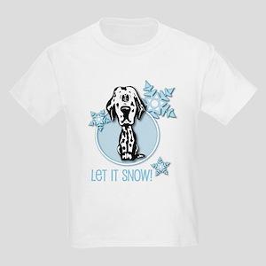 Let it Snow Dalmatian Kids Light T-Shirt
