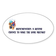 Reincarnation Oval Decal