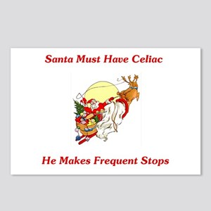 Santa Must Have Celiac Postcards (Package of 8)