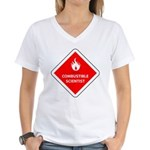 Combustible Scientist Women's V-Neck T-Shirt