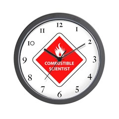 Combustible Scientist Wall Clock