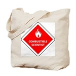 Combustible Scientist Tote Bag