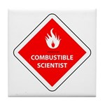 Combustible Scientist Tile Coaster