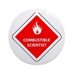 Combustible Scientist Ornament (Round)