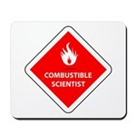 Combustible Scientist Mousepad