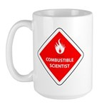 Combustible Scientist Large Mug