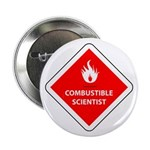 "Combustible Scientist 2.25"" Button"