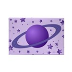 Planet with Stars Rectangle Magnet
