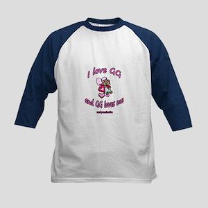 I LOVE GG GIRL Kids Baseball Jersey