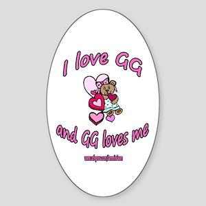 I LOVE GG GIRL Oval Sticker