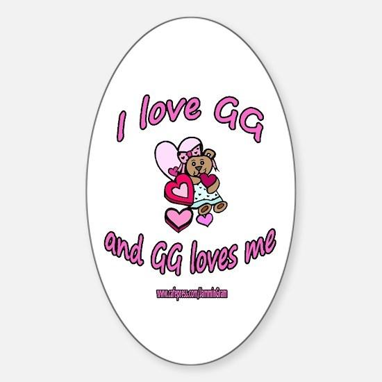 I LOVE GG GIRL Oval Decal