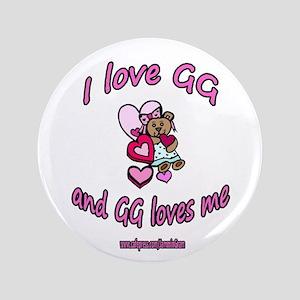 """I LOVE GG GIRL 3.5"""" Button"""