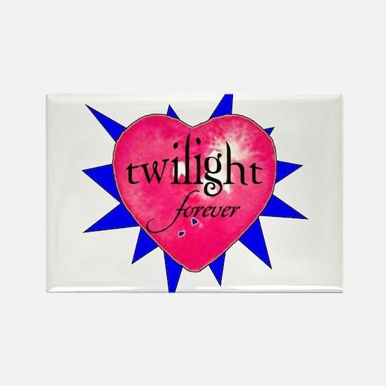 twilight forever heart /blue Rectangle Magnet