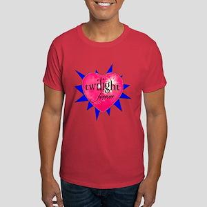 twilight forever heart /blue Dark T-Shirt