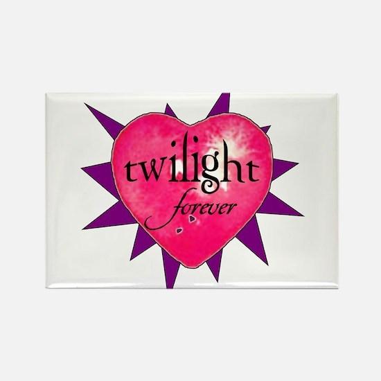 twilight forever heart /purpl Rectangle Magnet