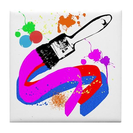 Paint brush Tile Coaster