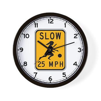 Slow 25 MPH Wall Clock