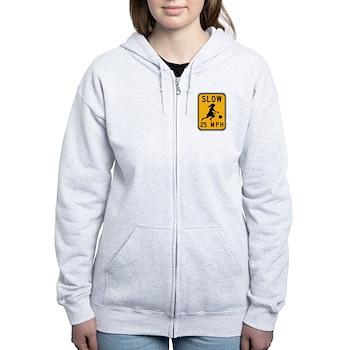 Slow 25 MPH Women's Zip Hoodie