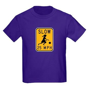 Slow 25 MPH Kids Dark T-Shirt