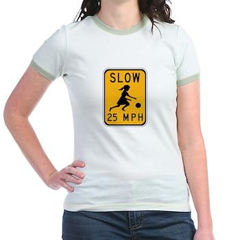 Slow 25 MPH Jr. Ringer T-Shirt
