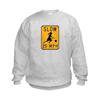 Slow 25 MPH Kids Sweatshirt